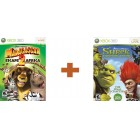 Детские / Kids  Комплект Shrek Forever After + Мадагаскар 2 (DreamWorks Madagascar Escape 2 Africa) Xbox 360