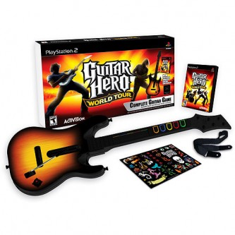 Музыкальные / Music  Guitar Hero Aerosmith Bundle (Игра + Гитара) [PS2]