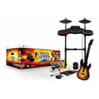 Музыкальные / Music  Guitar Hero World Tour Bundle (Игра + Гитара) [PS2]