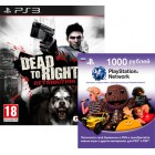 Комплект PSN Card 1000 + Dead to Rights: Retribution [PS3]