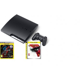 Комплект «Sony PS3 (320 GB) (CECH-3008B)» + игра «God of War 3 (Platinum)» + игра «Gran Turismo 5 (Platinum)»