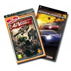 Гонки / Racing  Комплект «Ridge Racer»+ «ATV Off Road Fury Pro» (Essentials) [PSP, русская документация]