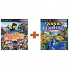 Комплект ModNation Racers [русская версия] + Sonic & SEGA All-Stars Racing [PS3]